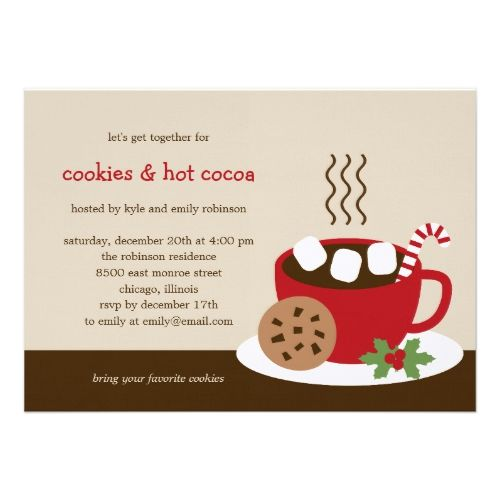 Cookies Cocoa HolidayChristmas Party Invitation Christmas Cards