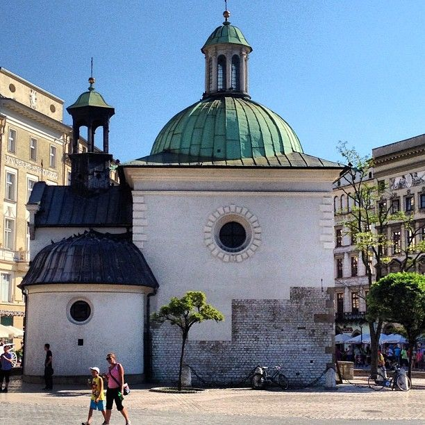 Downtown Krakow, 11th century Church of St. Adalbert- Laundry Basket Quilts