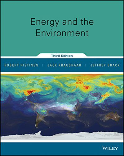 Solution Manual For Energy And The Environment 3rd Edition Ristinen Kraushaar Brack Environment Energy Test Bank