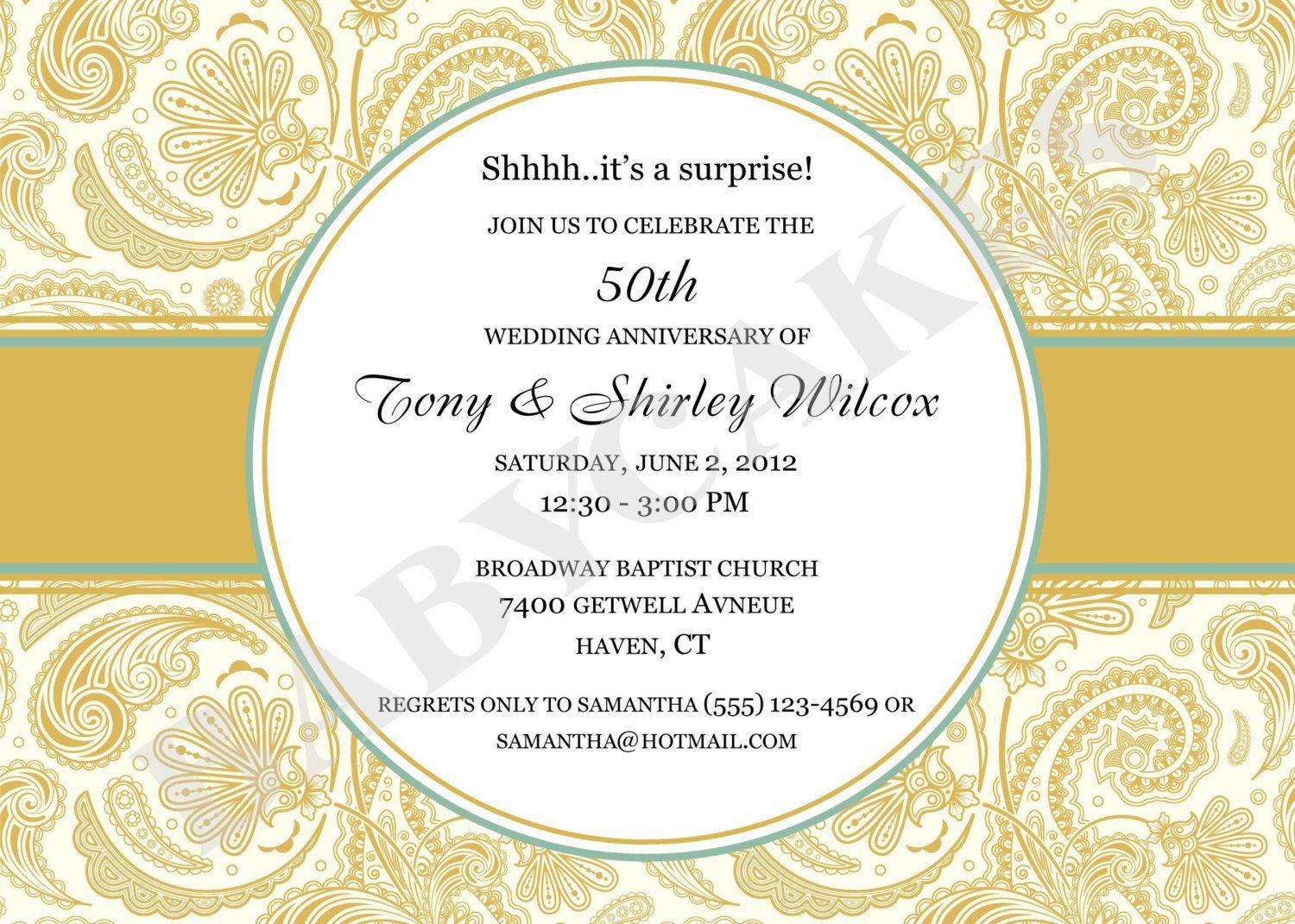 wedding invitation : golden wedding anniversary invitations - Superb ...