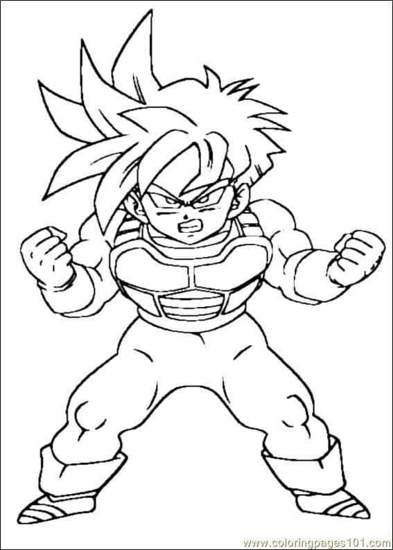 Dragon Ball Z Coloring Free Printable Coloring Page Dragon Ball