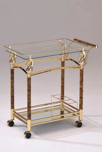 11590 Mace Golden Clear Serving Cart 98002 ACM98002 Old