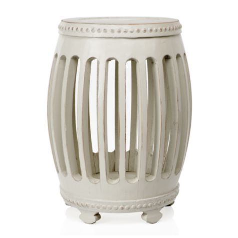 Winslow Stool - Ivory from #zgallerie $159.89 next to chaise lounge in my dreamy master suite