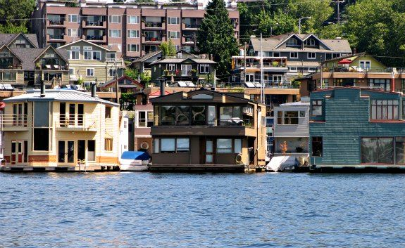 Postcard From Seattle Lake Union Floating Homes Floating
