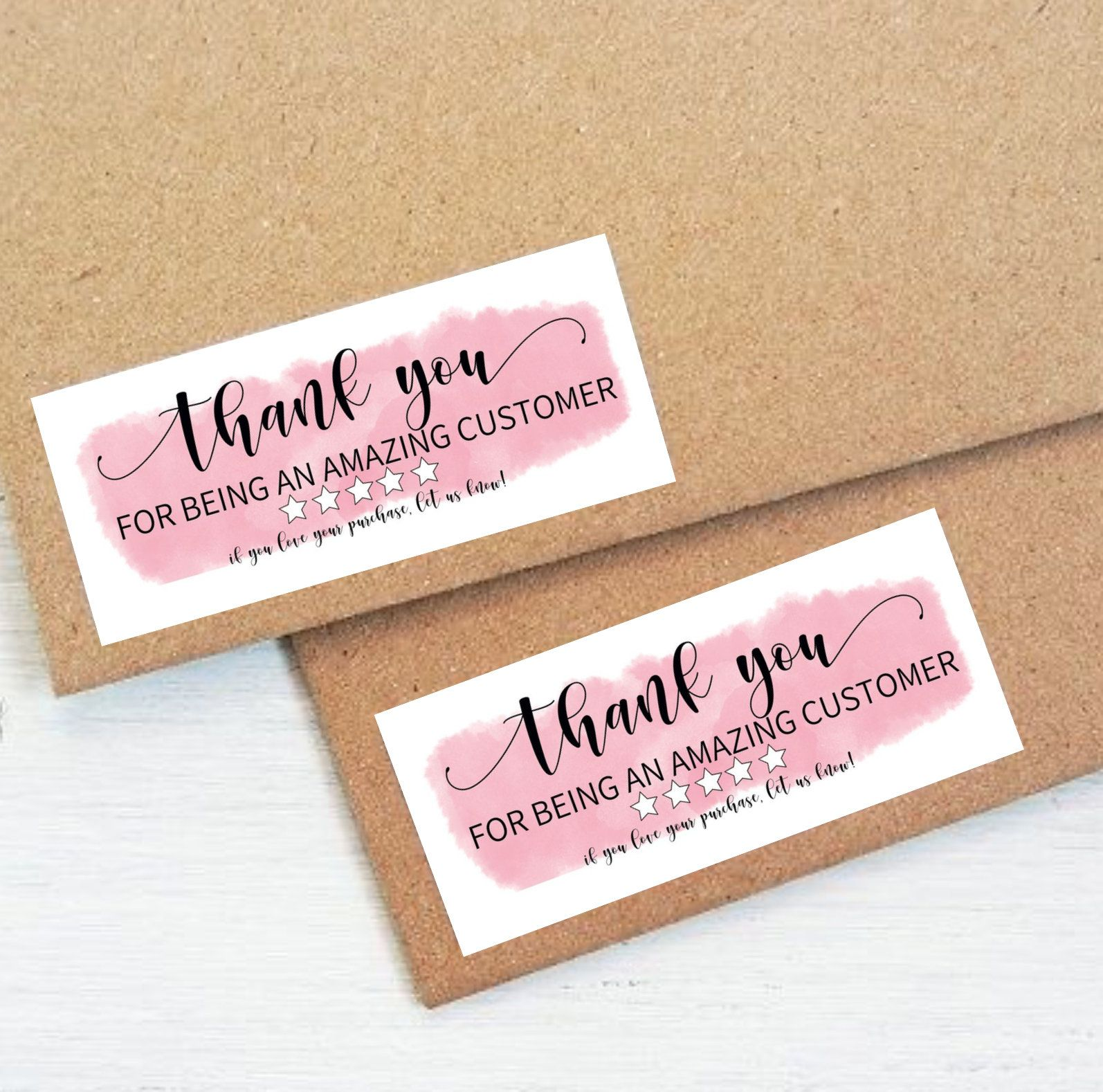 Instant Download Thank You Sticker Editable And Printable Thank You Cards Small Business Diy Small Business Packaging Kartu Nama Bisnis Kartu Nama Kartu