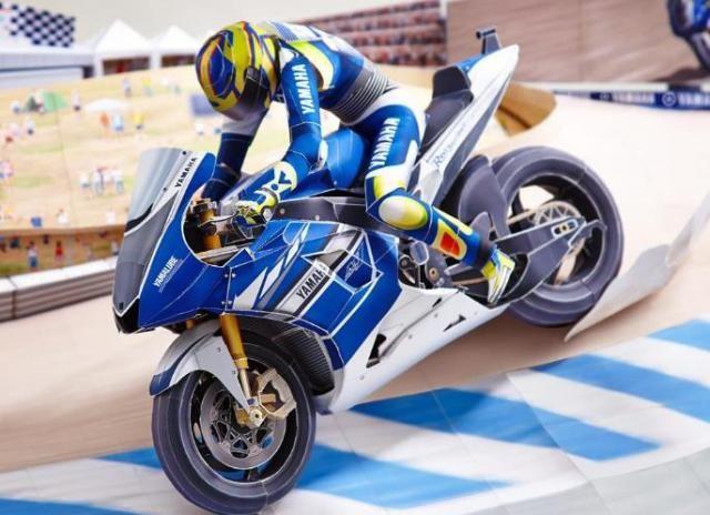 Motorsport World Racing Diorama Paper Model By Yamaha Motors