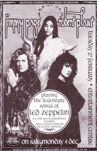Jimmy Page & Robert Plant: 27 February 1996, Brisbane Entertainment Centre.