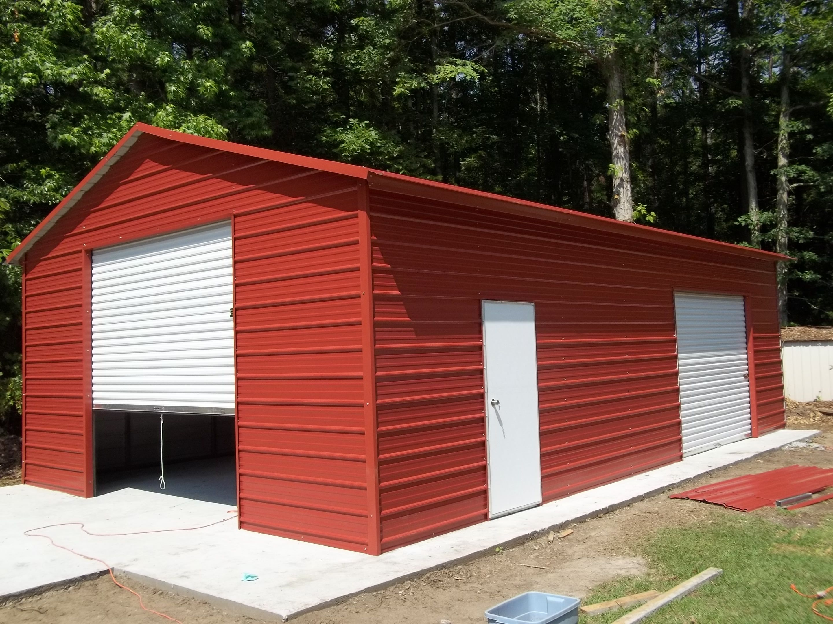 AFrame Garage with a Side Entry R&B Metal Structures