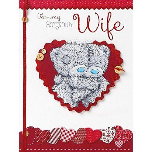 Me to You Tatty Teddy Beautiful Wife Birthday Handmade Boxed Card