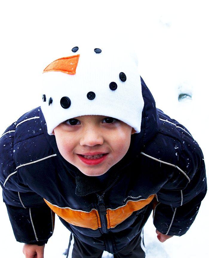 c458f9c28b6 Brassy Apple  Kids Snowman Hat - DIY gift   sewing project