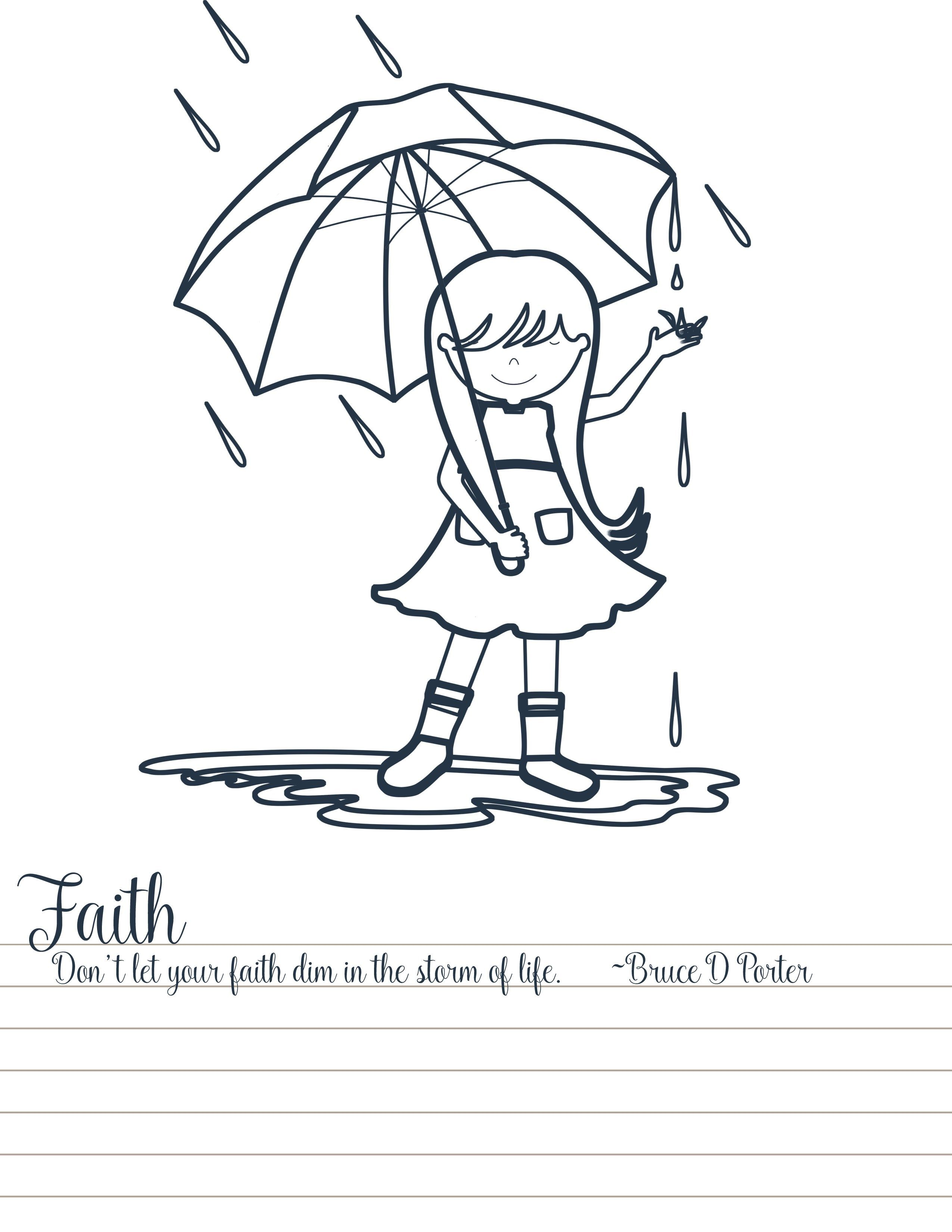 Faith-in-the-Storm-Coloring-Page.jpg 2,550×3,300 pixels | YW | Pinterest