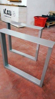 Gambe Per Tavoli In Alluminio.Coppia Di Gambe In Ferro Per Tavolo 75x70 Colore Alluminio Metal