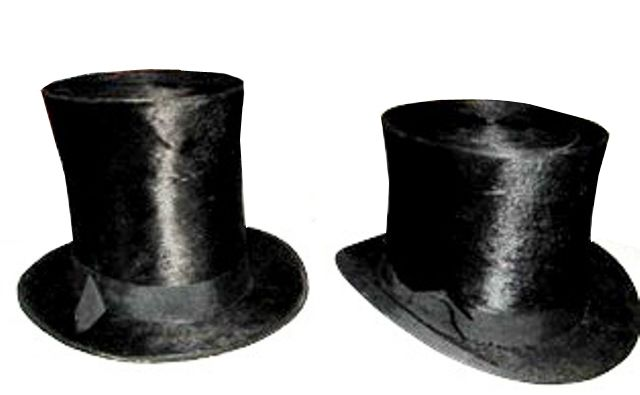 ff13ac227dd ... stove-pipe hat on the left and later Victorian beaver top hat on the  right. We carry a nice selection of beaver