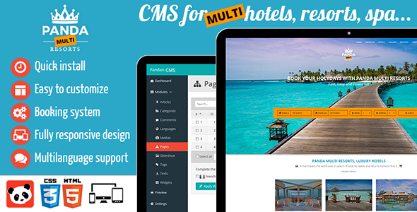 Download free panda multi resorts cms for multi hotels download free panda multi resorts cms for multi hotels administration back office booking bootstrap cms content management system hotel panel maxwellsz