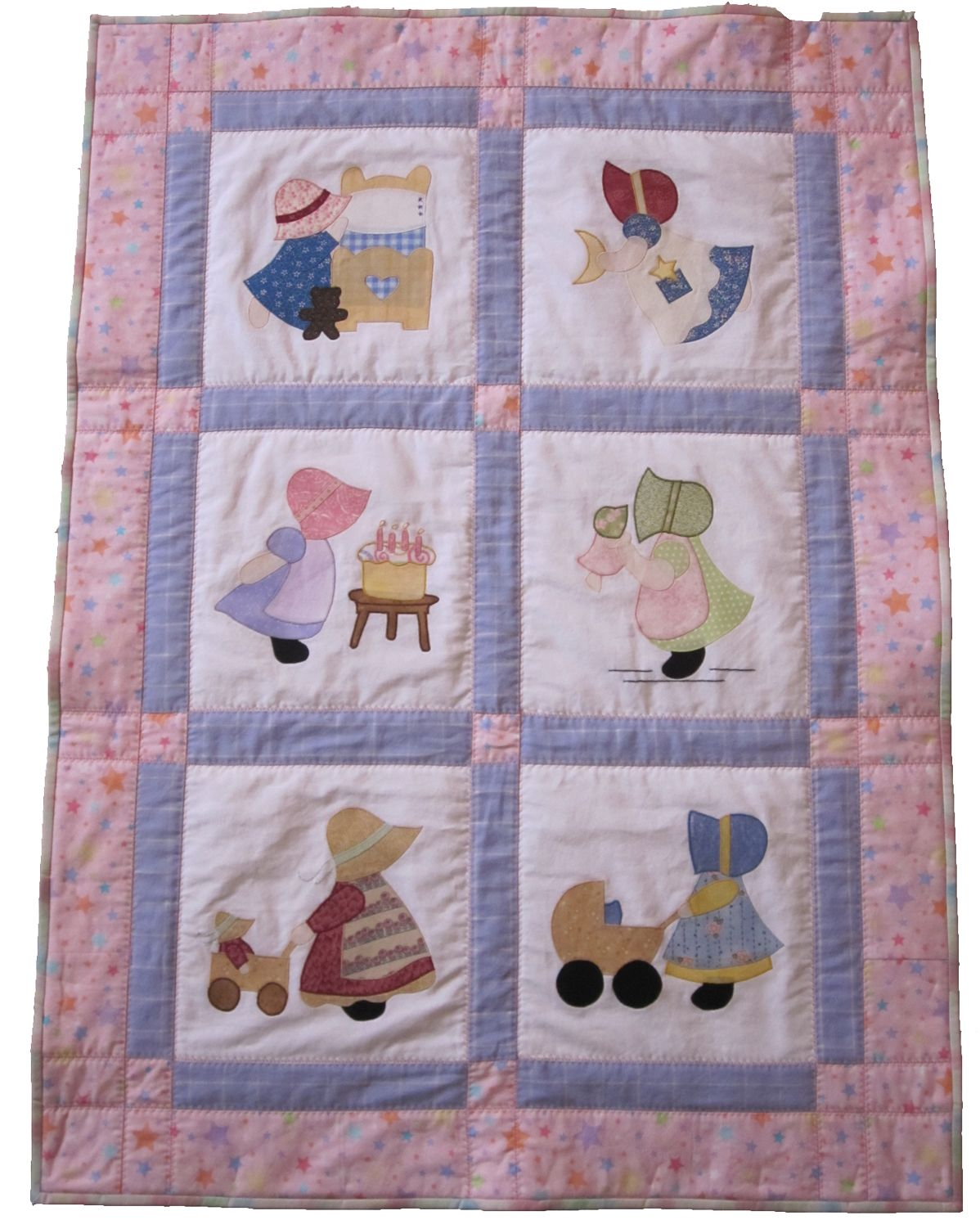 Sunbonnet Sue Baby Quilt | Quilt patterns, Girl quilts