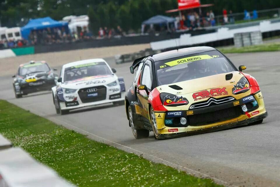 Petter Solberg leading in Belgium