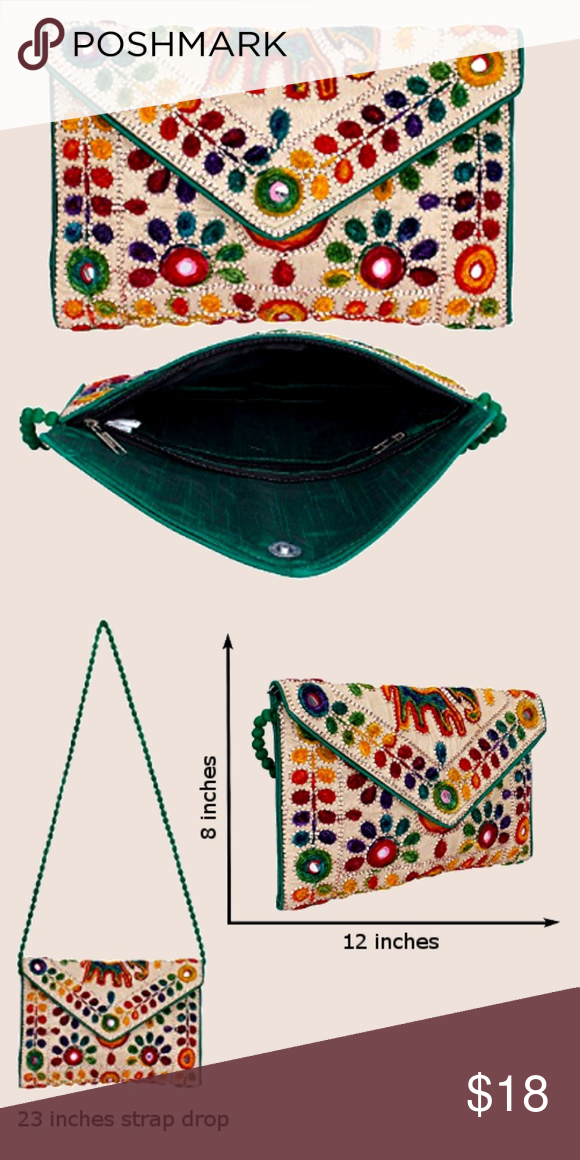 fa49e069e2b3 Boho Ethnic Print Fabric Clutch  Crossbody bag Add a touch of world travel  to your