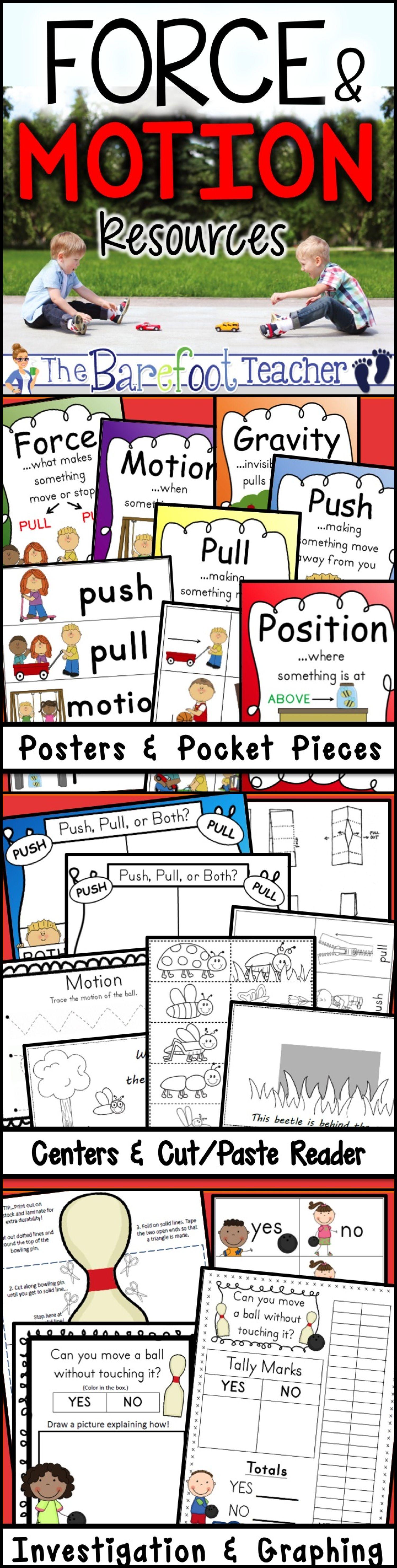 Force And Motion Kindergarten Bundle Of Activities 9 Activities Total