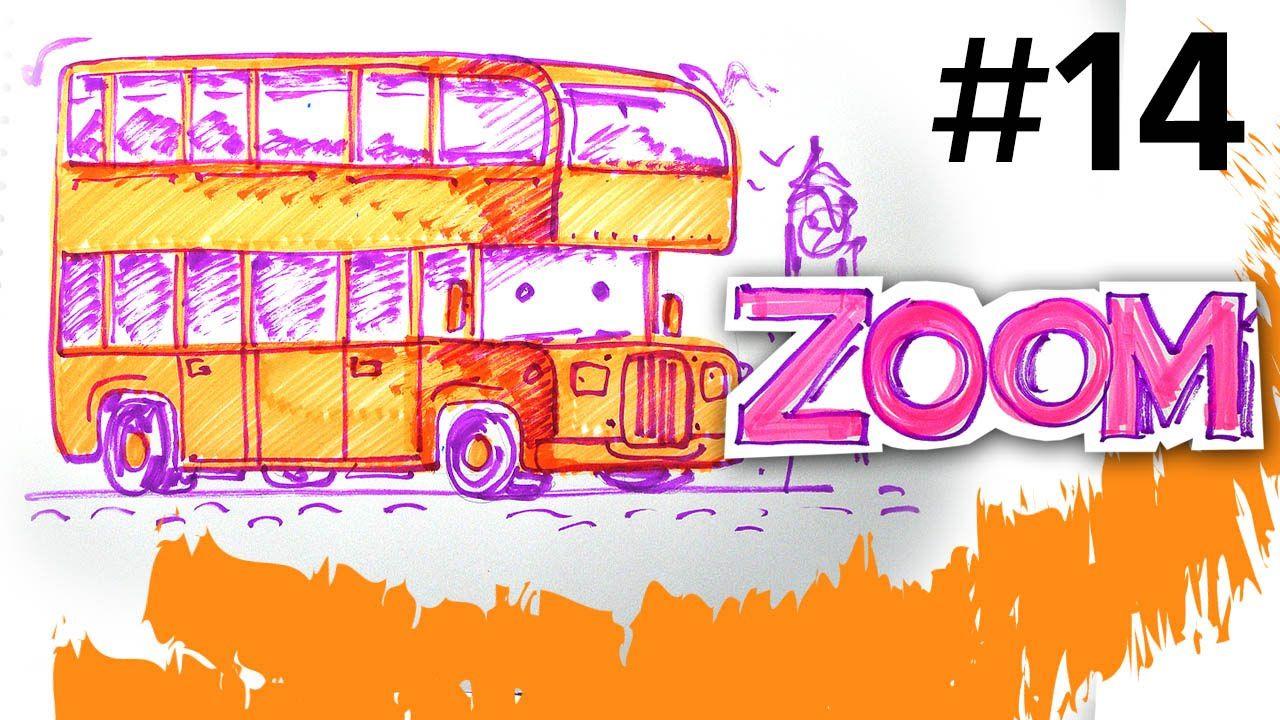 Мультик раскраска про Автобус Лондона, Маркер ZOOM рисует ...