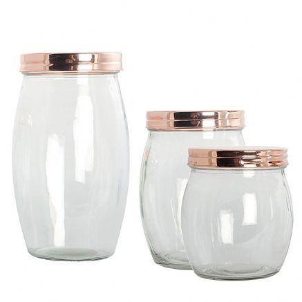 copper lid jars bedroom pinterest glass jars jar. Black Bedroom Furniture Sets. Home Design Ideas