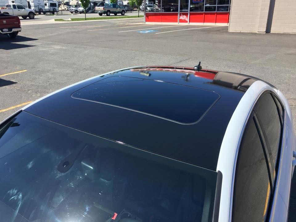 Gloss Black Roof Wrap On An Audi Spokane Sunscreen Auto Graphics - Audi spokane
