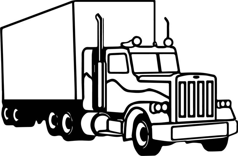 Semi Truck Coloring Page Also See The Category To Find Read