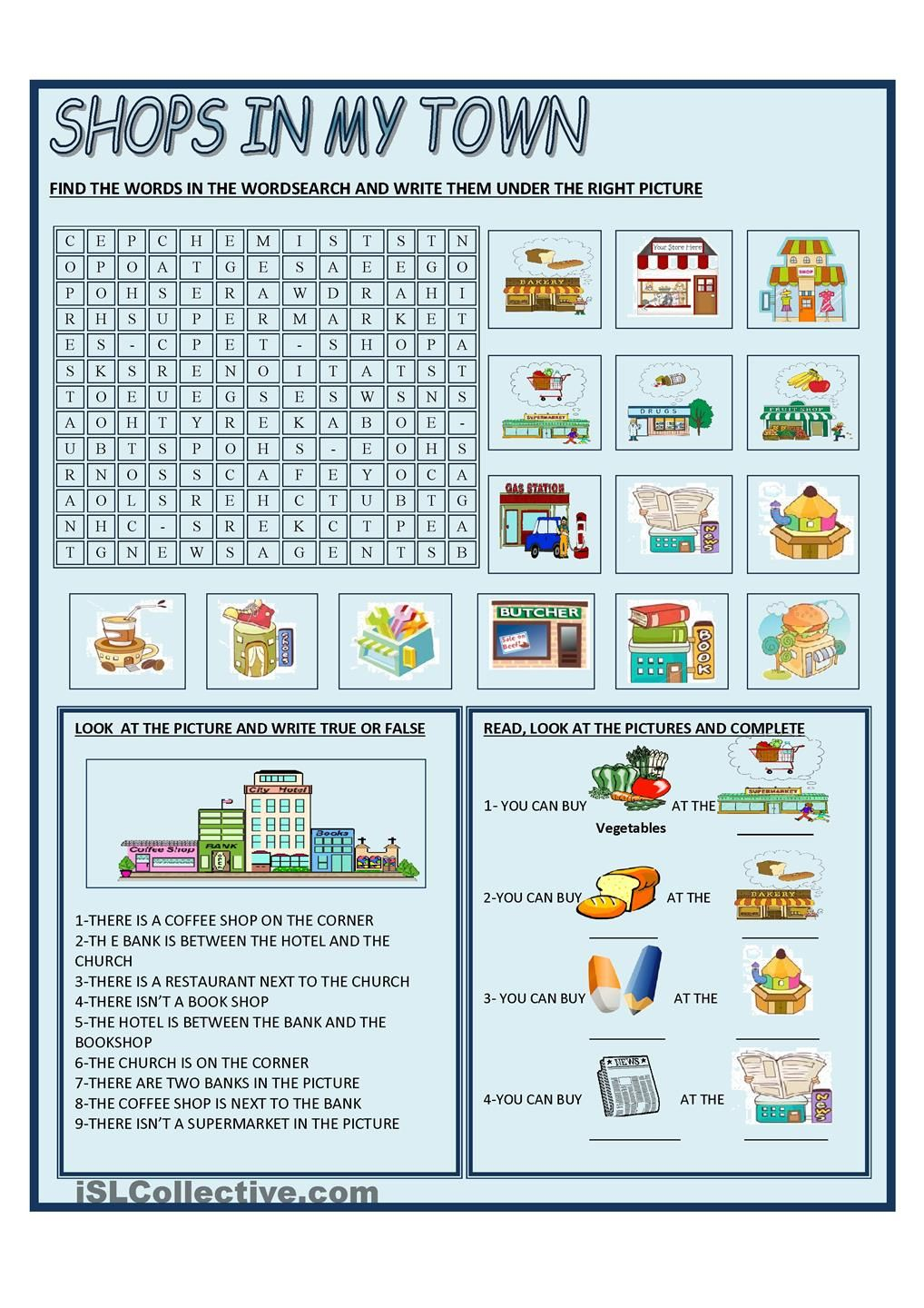 worksheet Shopping Worksheets shops in my town 5 pinterest english shopping and worksheets going worksheet free esl printable made by teachers