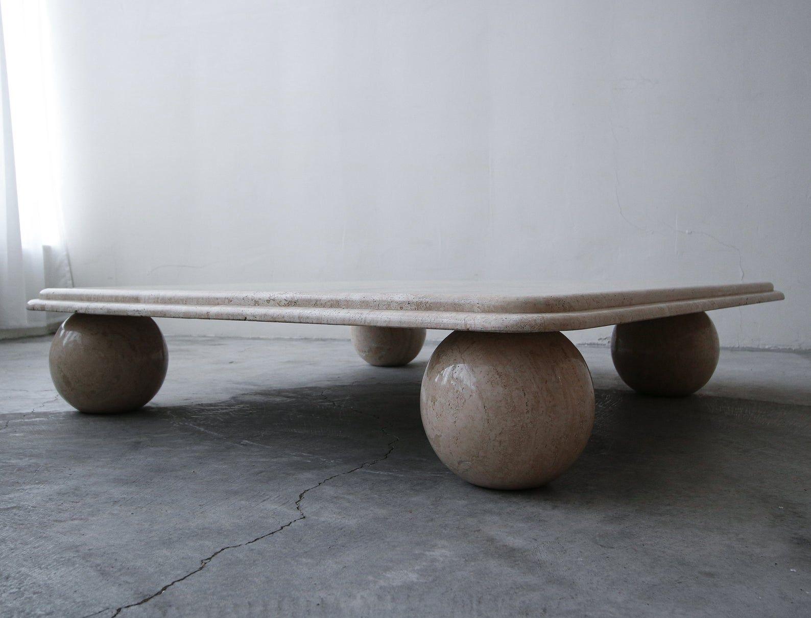 Post Modern Square Low Profile Travertine Coffee Table Round Etsy Travertine Coffee Table Coffee Table Round Coffee Table [ jpg ]