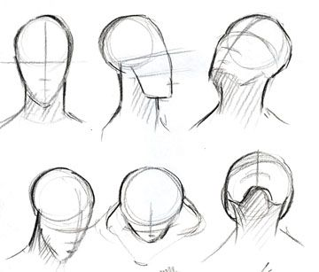 advanced projects in computers drawing basic face head