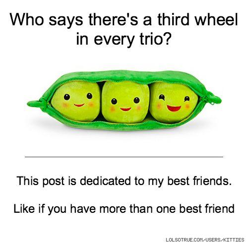 trio friendship quotes