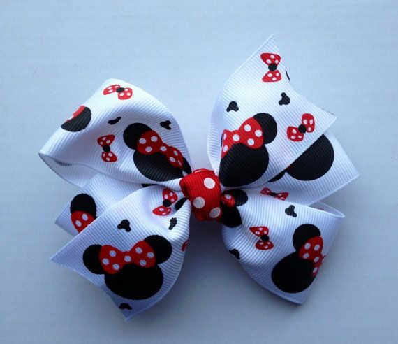 Boutique Baby Girl Hair Clips Bows Minnie Mouse Bowtique Patriotic Flag USA