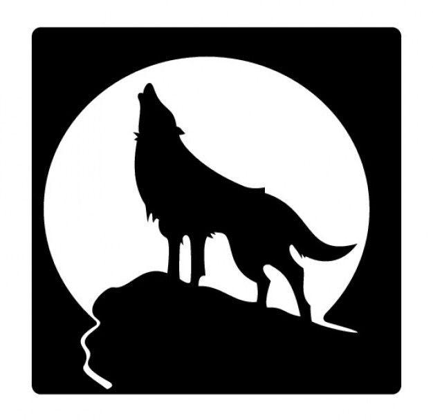 Silhouette Silhouette De Loup Peinture De Loup Pochoir Silhouette