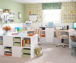 Love this craft room/office!