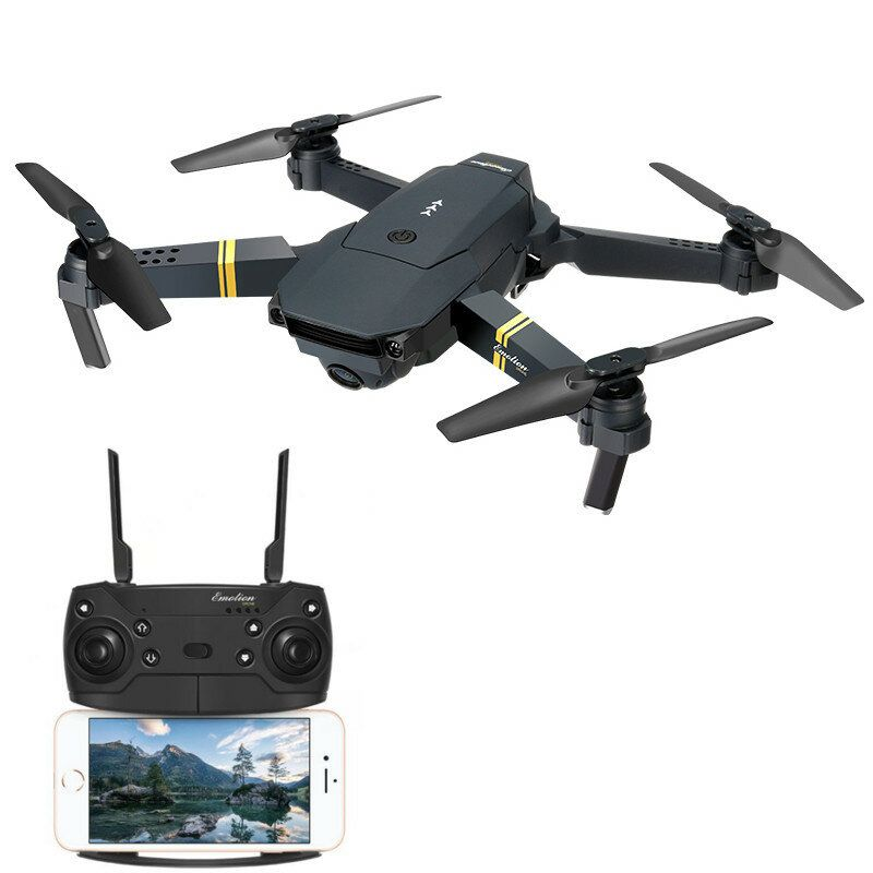 Eachine E58 Wifi Fpv With 720p 1080p Hd Wide Angle Camera High Hold Mode Foldable Rc Drone Quadcopter Rtf In 2020 Drone Camera Drone Quadcopter Foldable Drone