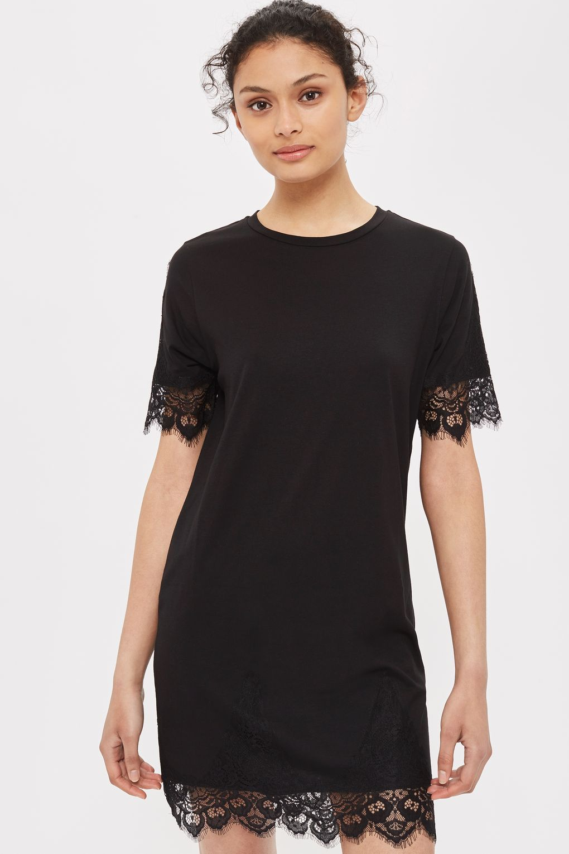 859ea1e925f0 PETITE Lace Petal Shift Dress - Petite - Clothing | Laura's Style ...