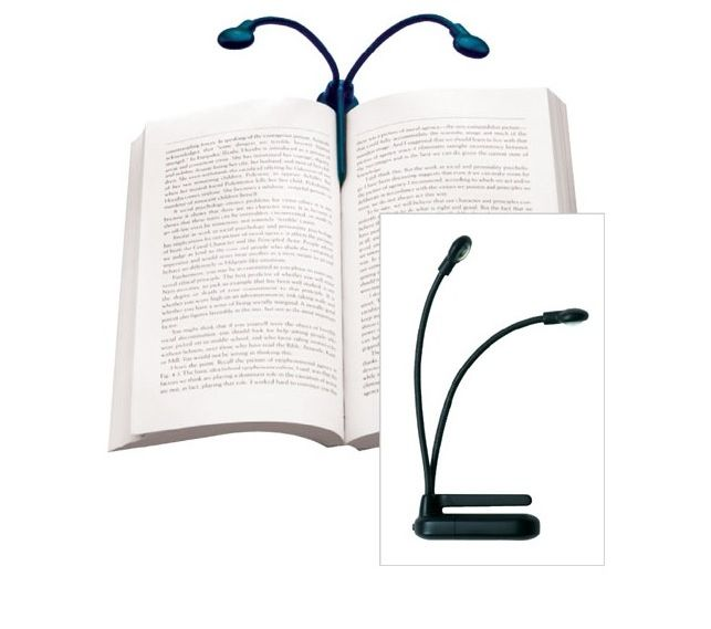 Hydra Book Light Shines A Lamp On Two Pages At Once Book Lights