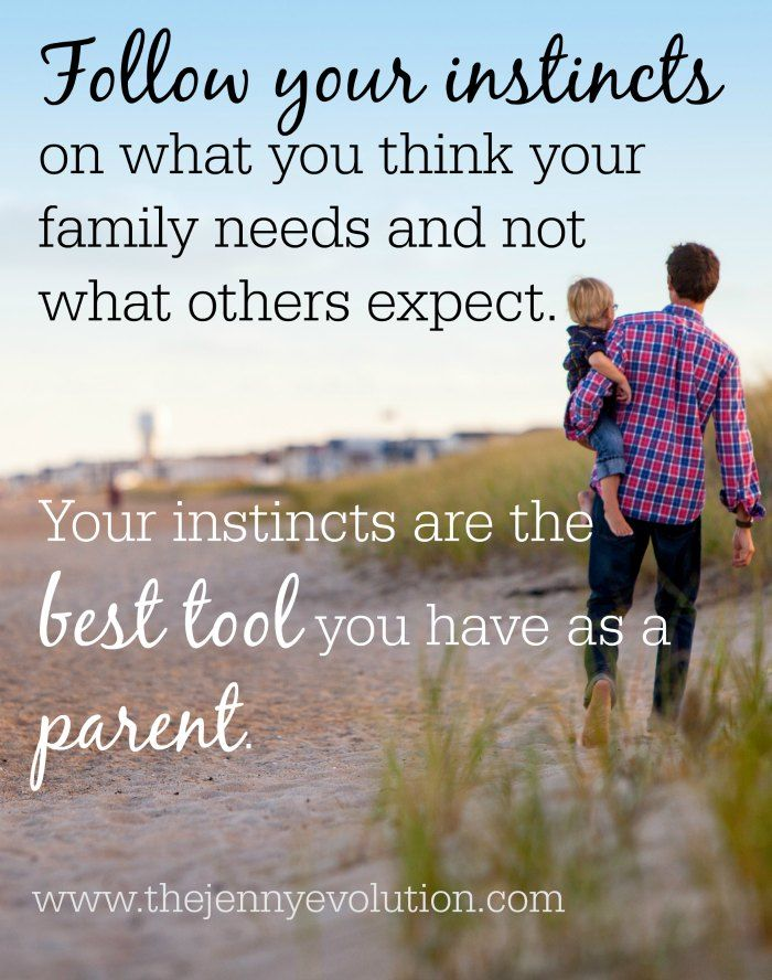 Listening to Your Instincts as a Parent Will Never Steer You Wrong | The Jenny Evolution