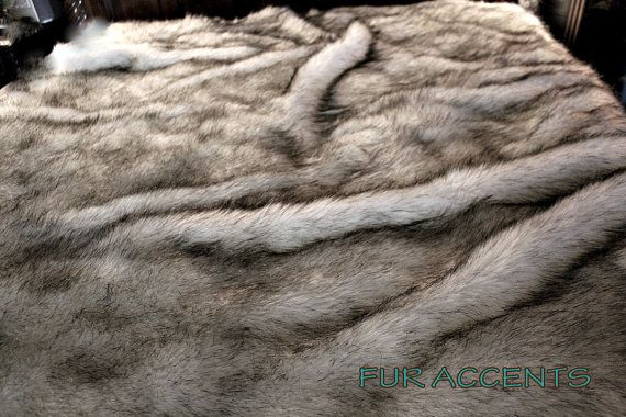 Plush Faux Fur Bedspread / King Size / Comforter / Blanket / Throw