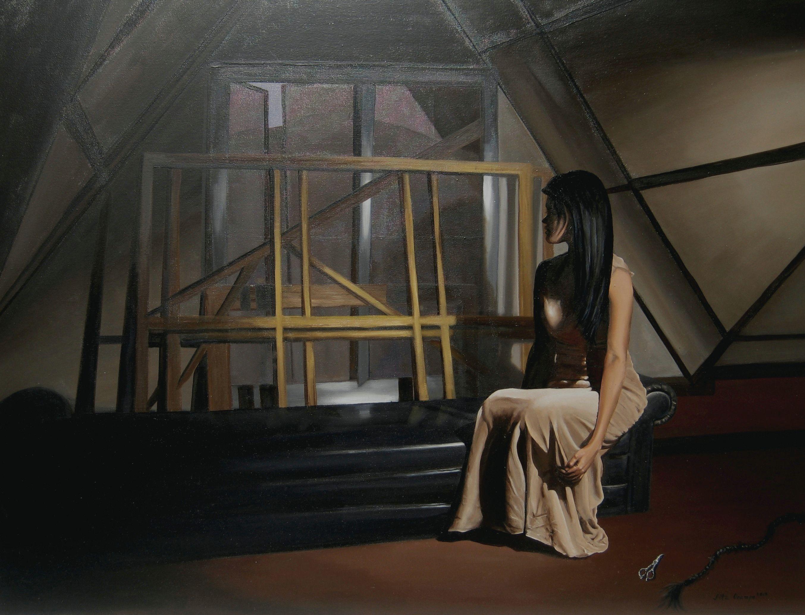 Ocampo Fitz Prisoner of Fear 2013 Painting 36x48inches  #OpenArt #Milano #arte #Milan #concorso #artcontest #associazione   www.concorsobuenosaires.com