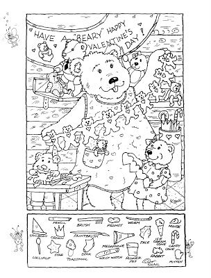 prints full page hidden pictures publishing hidden picture puzzlecoloring page for valentines day