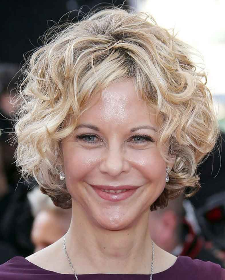 Hairstyles For Women Over 60 With Round Faces Short Curly