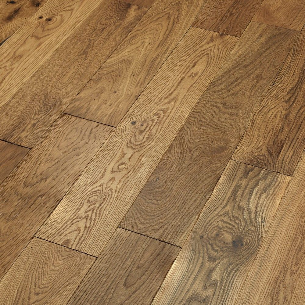Loft Smoked Oak Lacquered Engineered Wood Flooring 5