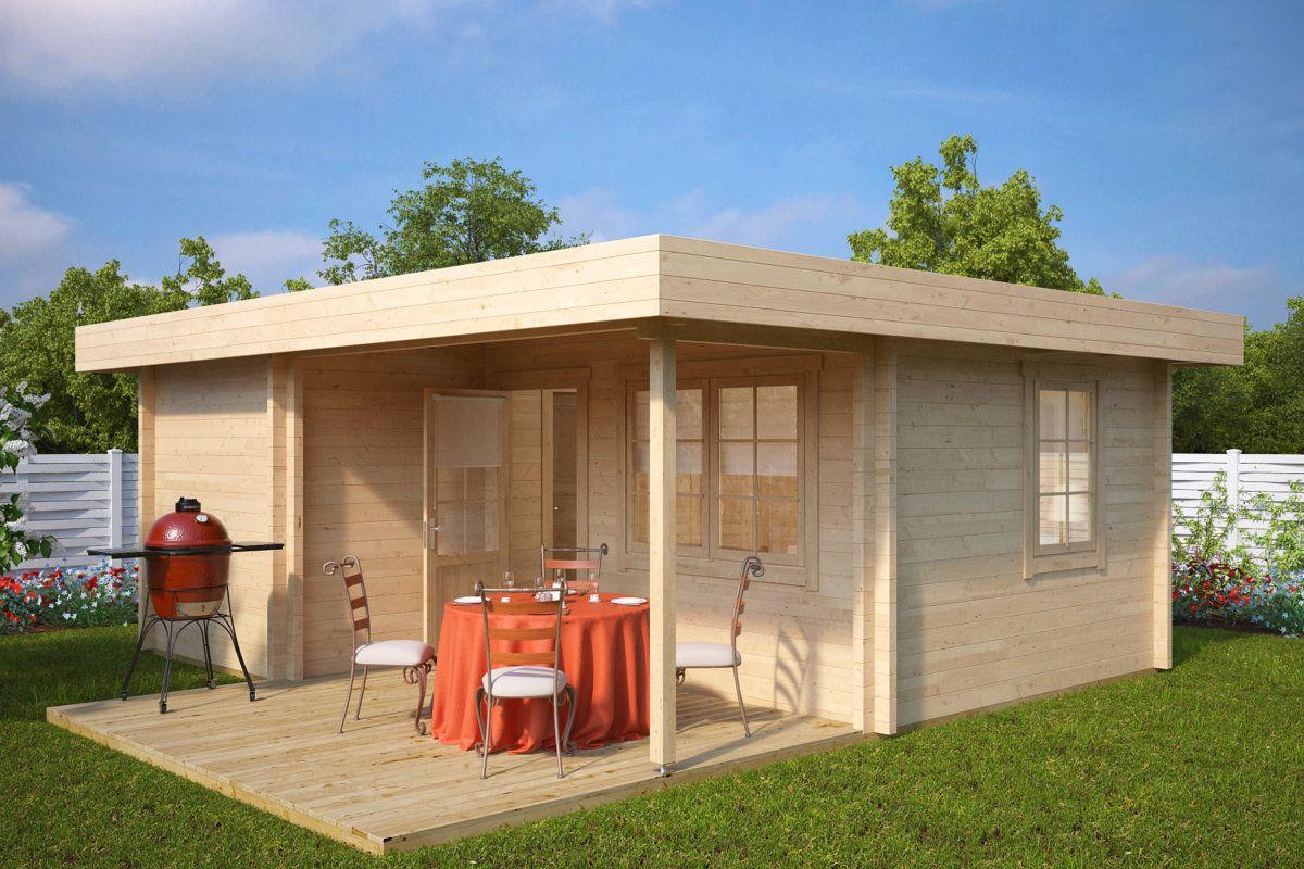 3 Zimmer Holzhaus Oscar 21m2 70mm 6x5 Hansagarten24 Sommerhaus Kleines Sommerhaus Holzhaus