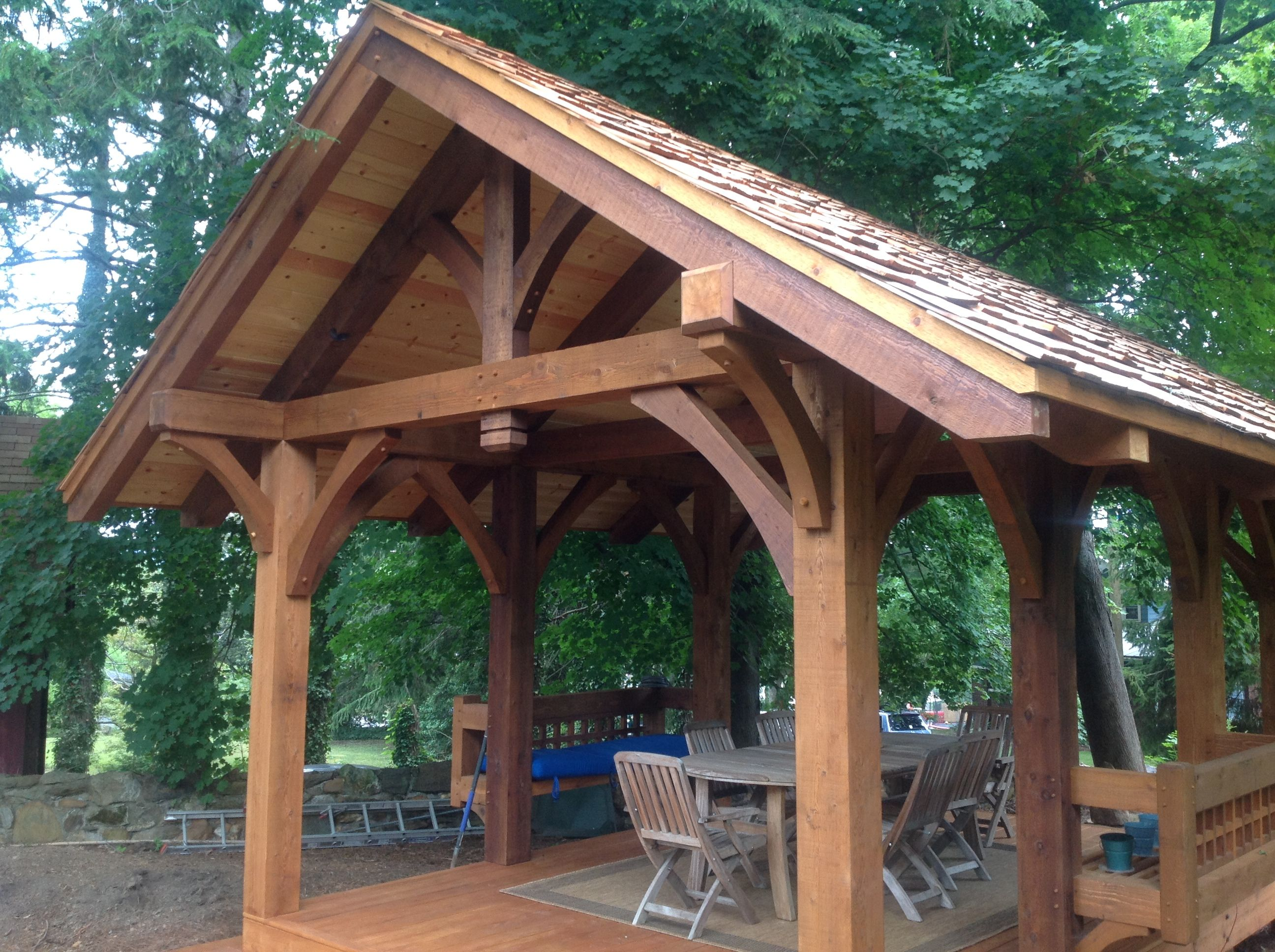 Post And Beam Porches Timber Frame Porch Rustic Patio