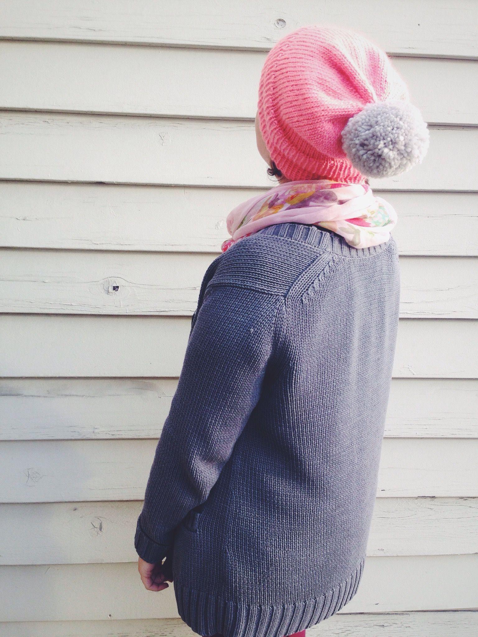 Slouchy Pom Pom Hat – A Free Knitting Pattern | Pom pom hat, Free ...