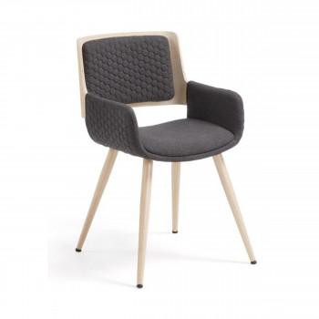 Chaise Et Tabouret Design Vintage Et Confortable By Drawer En 2020 Fauteuil De Table Fauteuil Bois Chaise De Salle A Manger
