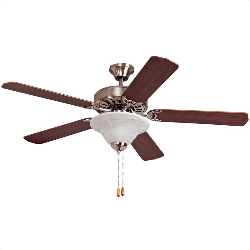 Yosemite home decor 52 ceiling fan brushed steel with