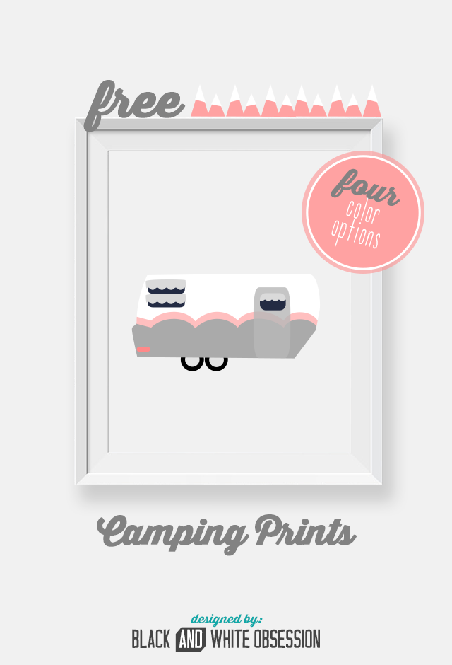 FREE Printable Camping Wall Art | Imprimibles y Caravana