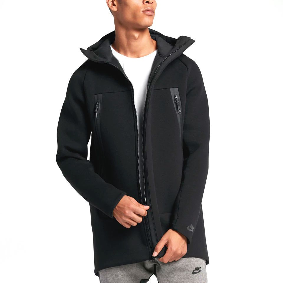 e6b58dc4eb MENS NIKE TECH FLEECE PREMIUM PARKA HOODIE JACKET BLACK 2XL 805142-010 MSRP   250  Nike  BasicJacket