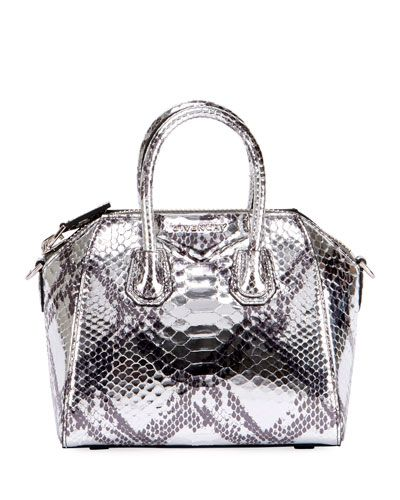 afd6d8636bb9 GIVENCHY ANTIGONA MINI LAMINATED PYTHON SATCHEL BAG.  givenchy  bags   shoulder bags